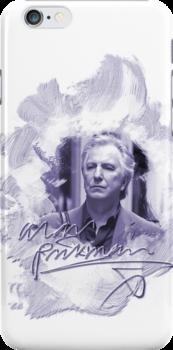 Alan Rickman i-phone case #2 by scatharis