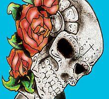 """Los Muertos Skull by Tomas """"Twiggy"""" Ramirez"""