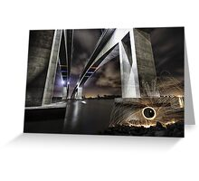 Lighting up the Gateway Bridge Greeting Card
