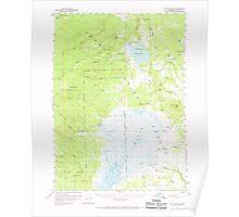 USGS Topo Map Oregon Sycan Marsh 282938 1960 62500 Poster