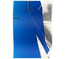 Sails on blue sky Poster