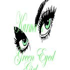 karmas green eyed girl IPHONE CASE by Dee-Karma-Arts