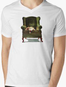 Monkey the Cat Mens V-Neck T-Shirt