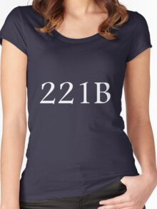 221B - Sherlock Holmes Women's Fitted Scoop T-Shirt