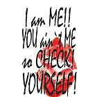 check yourself IPHONE CASE by Dee-Karma-Arts