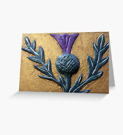 Thistle design card Greeting Card