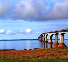 Confederation Bridge 2 - PEI to New Brunswick by Peggy Berger