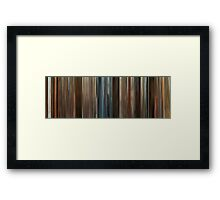 Moviebarcode: Juno (2007) Framed Print