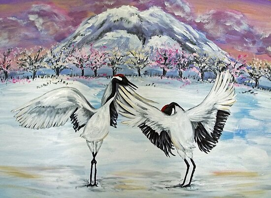 Dance of the Cranes by AngiePi