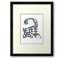 a alphabet symbol braille code design Framed Print
