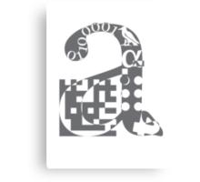 a alphabet symbol braille code design Canvas Print