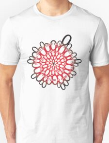 flowerpower red number flower design Unisex T-Shirt