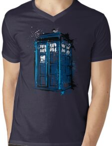 Time and Space Mens V-Neck T-Shirt
