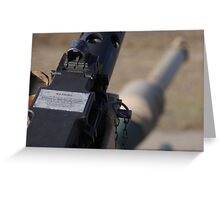 M2 Browning .50 Cal Greeting Card