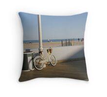Boardwalk Bike Throw Pillow