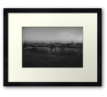 Outback Living (Part 2) B&W Framed Print
