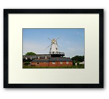 Traditional windmill, Rye Framed Print