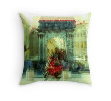 The Essence of Croatia - Red Motorbike in Pula Throw Pillow