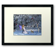 Yule Winter Faerie and Animals Framed Print