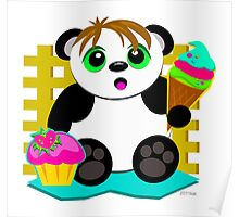 Cute Panda Who Loves Sweets Poster