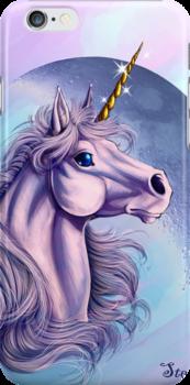 Lunar Unicorn iPhone Case by cybercat