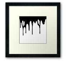 BLACK DRIPPAGE Framed Print