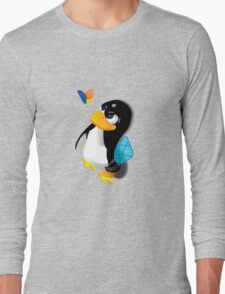 What are you doing, Tux? Long Sleeve T-Shirt