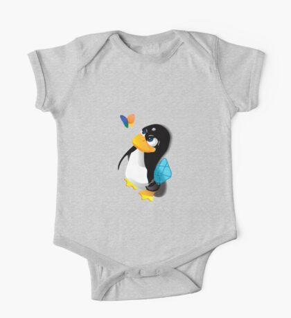 What are you doing, Tux? One Piece - Short Sleeve
