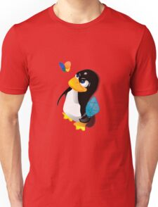 What are you doing, Tux? Unisex T-Shirt