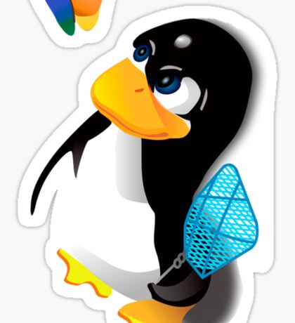 What are you doing, Tux? Sticker