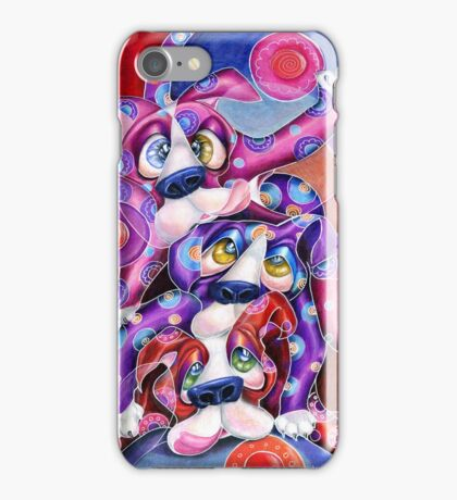 The Dog Pile, Iphone case, by Alma Lee iPhone Case/Skin
