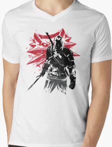 The Witcher sumi-e Mens V-Neck T-Shirt