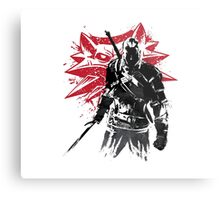The Witcher sumi-e Metal Print