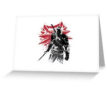 The Witcher sumi-e Greeting Card