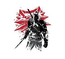 The Witcher sumi-e Photographic Print