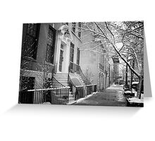 Winter - Upper East Side - New York City Greeting Card