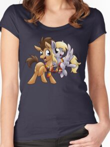 Derpy & Doctor Whooves Women's Fitted Scoop T-Shirt