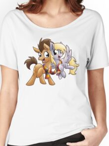Derpy & Doctor Whooves Women's Relaxed Fit T-Shirt
