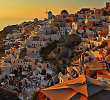 The houses of Oia by Peter Hammer