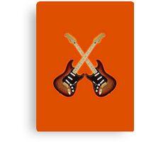 Fender Strat Sunburst Guitar Canvas Print