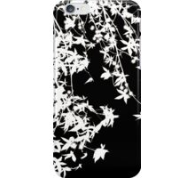 white on black iPhone Case/Skin