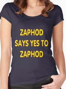 Zaphod says YES to Zaphod Women's Fitted Scoop T-Shirt