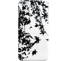 black on white iPhone Case/Skin