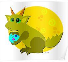 Baby Dragon Loves Eggs Poster