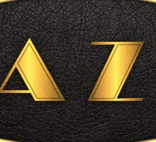 Oval Gold Jazz Sticker