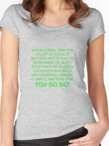 leap of faith t Women's Fitted Scoop T-Shirt