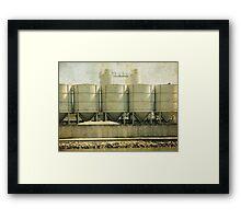 Cement Silo Framed Print