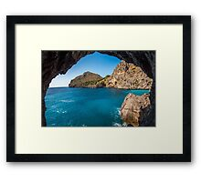 Sea and Rocks Framed Print