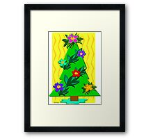 Tropical Christmas Tree for the Holidays Framed Print