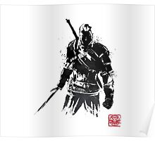 The Witcher sumi-e V2 Poster